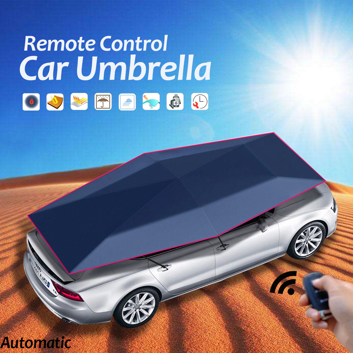 Automatic Remote Control Car Umbrella Tent Cover SUV Truck Sun Shade Waterproof Foldable Car Canopy Tent foldable outdoor car tent umbrella sunshade roof cover cloth full automatic anti uv waterproof windproof replaceable car cover