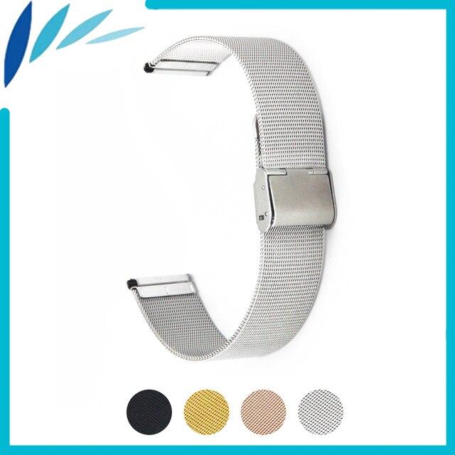 Milanese Stainless Steel Watch Band 18mm 20mm 22mm for Rolex Hook Clasp Strap Men Women Wrist Loop Belt Bracelet Black Silver