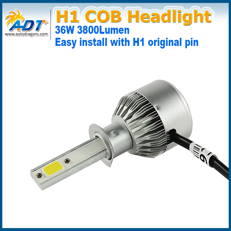 C6 car auto LED Headlight COB H11 12V 72W 7600LM 6000K shine well super bright Strong penetration in snowy weather waterproof