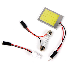 ITimo DC 12V Universal Auto Accessories LED Car Dome Lights T10 24SMD Interior Reading Lamps 1 Set COB Car-styling