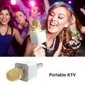 2017 New Q7 Portable Wireless Karaoke Microphone Handheld Condenser Microphone with Speaker for iPhone/iPad/Samsung Smartphones