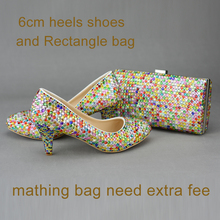 Love Moments shoes woman Crystal Glitter Multicolor wedding Shoes Bride Platform high heels Evening Dress party women lady shoes