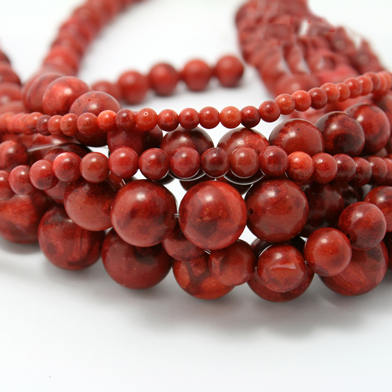 31b714496e5ef US $2.47 10% OFF|Round Red Coral Beads Natural Handmade Fashion Jewelry  Beads For Jewelry Making Diy Bracelet Necklace Free Shipping-in Beads from  ...