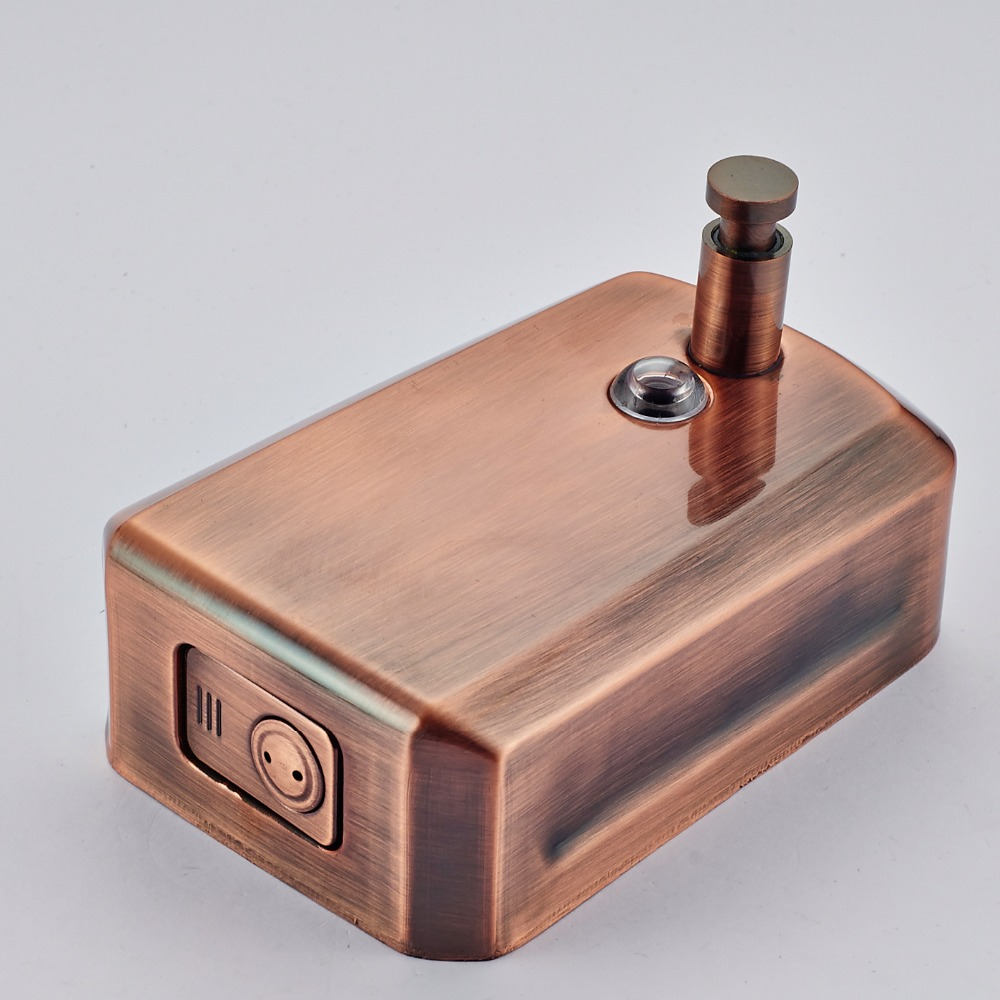 Wholesale And Retail Free Shipping New Wall Mount Dark Copper Plating Soap Dispenser Liquid Soap Dish Holder 800ML цена 2017