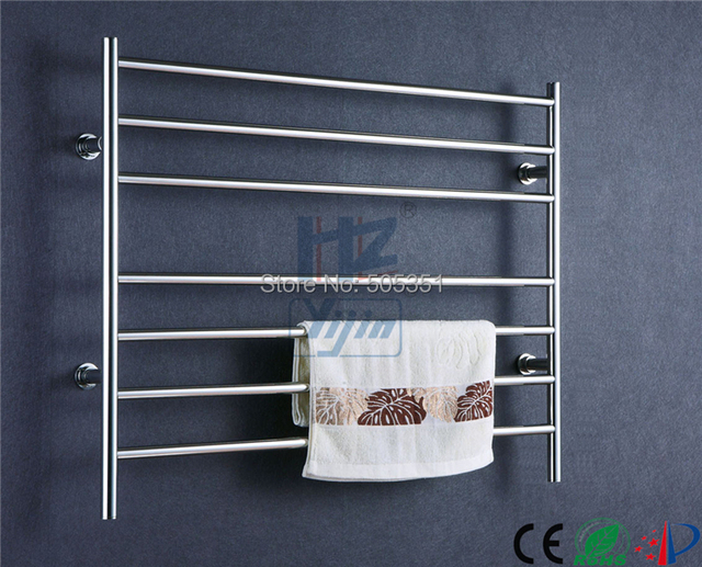 wide chromed Finish Heated Towel Rail towel warmer Concealed/Exposed