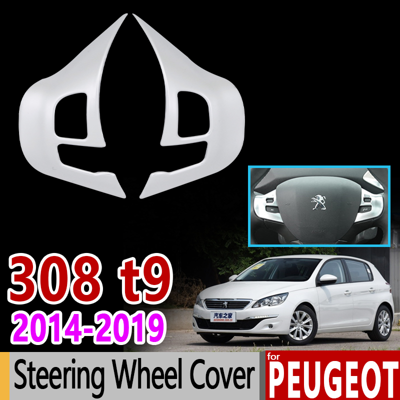 Set of 4 Wheel Trims Silverstone Wheel Peugeot 308-Logo Chrome r 15