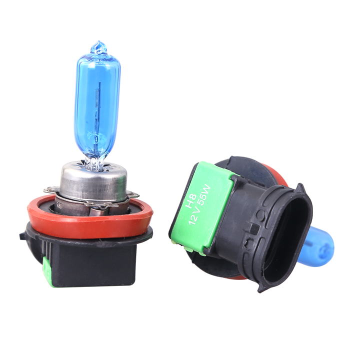2pcs <font><b>H8</b></font> 12V 55W <font><b>Halogen</b></font> Auto Car Bulb 6000K Car Lamp Auto Light Super <font><b>White</b></font> Long Lifespan image