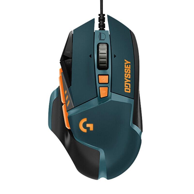 Souris de jeu Logitech 16000 DPI souris filaire héros Programmable RGM Gamer poids réglable pour accessoire PUBG/LOL