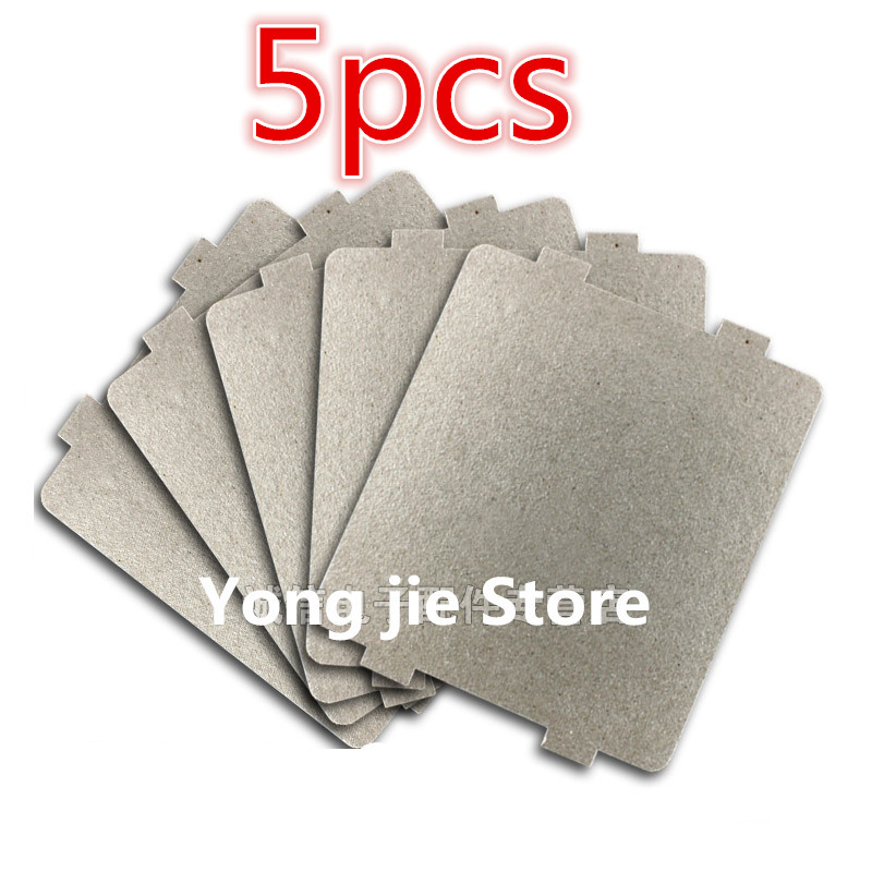 5pcs 9.9*10.8cm Spare parts for microwave ovens mica microwave mica sheets for  Midea  magnetron cap  microwave oven plates genuine original microwave oven magnetron for midea witol 2m219j magnetic tube disassemble 9 into a new 5 microwave ovens mica