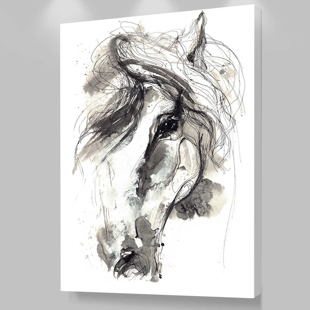Canvas Art Print On The Wall Home Decortion Abstract Horse Animal Pictures Printed Oil Painting for Living Room Decoration