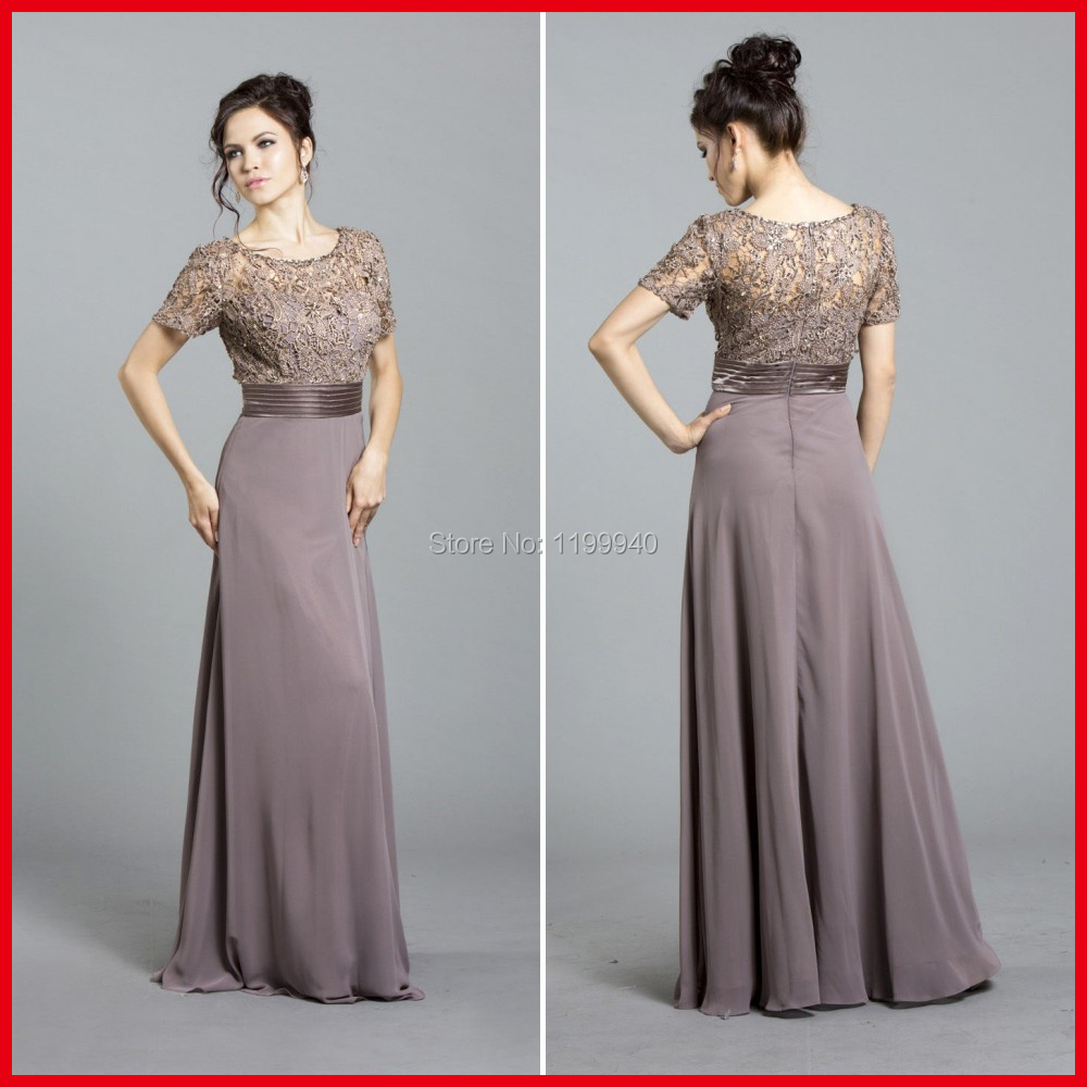 b5ad514da275 Hot Sale Short Sleeve Lace Chiffon Long Dress Godmother Formal Evening Gowns  Vestido De Madrinha-in Mother of the Bride Dresses from Weddings & Events  on ...