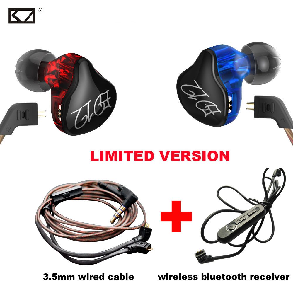 KZ ED12 Colorful Sport Bluetooth Earphone with Mic Upgrade Bluetooth Receiver Headphone with 2 DIY Detachable Cable HiFi Dynamic joma sport kz