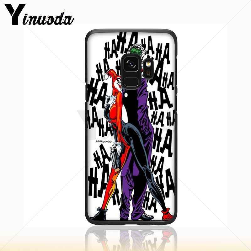 Yinuoda Suicide Squad Joker Harley Quinn Thiết Kế Điện Thoại Bìa Đối Với Samsung Galaxy s9 s8 cộng với lưu ý 8 note9 s7 note5 trường hợp