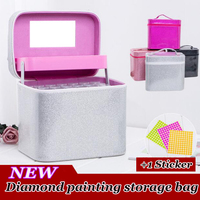 126 paint bottle diamond cross stitch accessories toolbox diamond storage container square full 5D embroidery mosaic