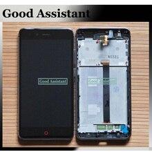 100% Chất Lượng Cao Black/Trắng Đối Với ZTE Nubia Z11 Mini TD LTE NX529J LCD Display + Touch Screen Digitizer Hội với Khung