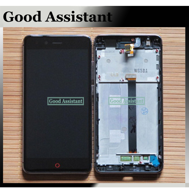 100% High Quality Black/White For ZTE Nubia Z11 Mini TD LTE NX529J LCD Display + Touch Screen Digitizer Assembly With Frame