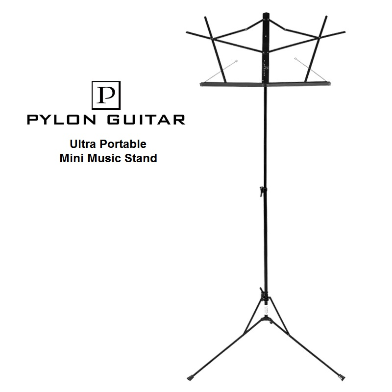Pylon Guitar Ultra Portable Folding Mini Music Stand for Guitar Bass Violin Piano Stage/Street Performing цены онлайн