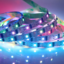 WS2801 LED strip Work With Raspberry Pi control LED strip For Arduino Development Ambilight TV White Or Black PCB