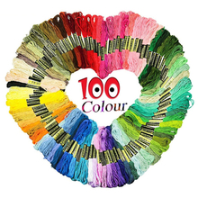 100pcs Premium Rainbow Color Embroidery Floss Cross Stitch Threads Friendship Bracelets Crafts DIY Sewing Accessorie