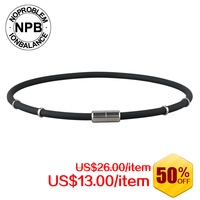 NPB Ion Balance Germanium Power Band Tourmaline Necklace P058white