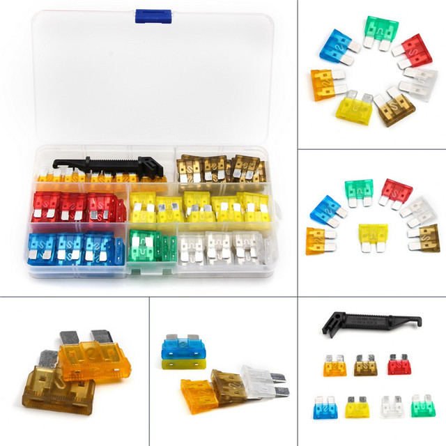 US $1035Medium Size Mix Colors Fuse Blade Car Vehicle Circuit  5A/75A/10A/15A/20A/25A/30A Fuse Box Block Holder 121pcs/Set -in Fuses from  Home