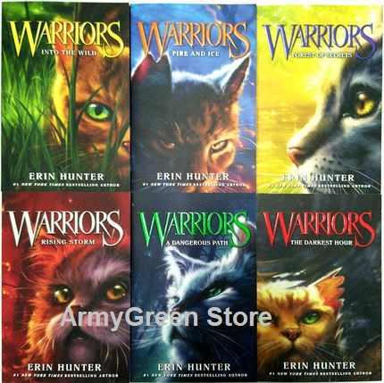6 boeken Erin Hunter WARRIORS seizoen 1 Box Set Collectie Boeken 1-6 Kind Kids Schoolkinderen Engels Fiction Roman boek