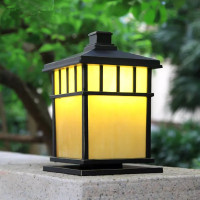 HAWBOIRRY LED European outdoor landscape courtyard community villa park retro waterproof pillar lamp outdoor balcony wall lamp