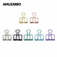 Cute Color Metal Hollow Binder Clip Storage Book Clip Hand Account Invoice Paper Clip Clamp
