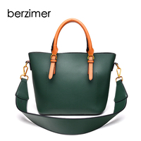 BERZIMER New Fashion Women Composite Handbags Brown Green Purple Shoulder Bag Large Capacity Crossbody Bags For Women 2018