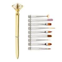 1 набор из 10 светолечение для маникюра многофункциональный набор ручек-золото для ногтевого дизайна инструменты для нанесения точек ручка ...