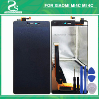 New MI4c LCD Touch Panel For Xiaomi Mi4c Mi 4c LCD Display Touch Screen Sensor Glass