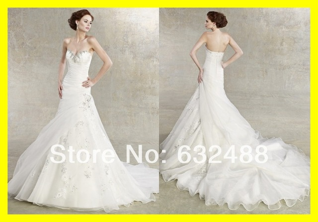 Casual Wedding Dresses Second Dress Sexy Plus Size Vintage Flowy A-Line  Floor-Length Chapel Train Appliques Sweethear 2015 Cheap 7b963797f1b9