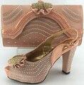 Sapato italiano com saco de harmonização sapato altura do salto 10 cm senhoras correspondentes e bolsa de Itália preço barato de alta qualidade sapato e bolsa de conjunto
