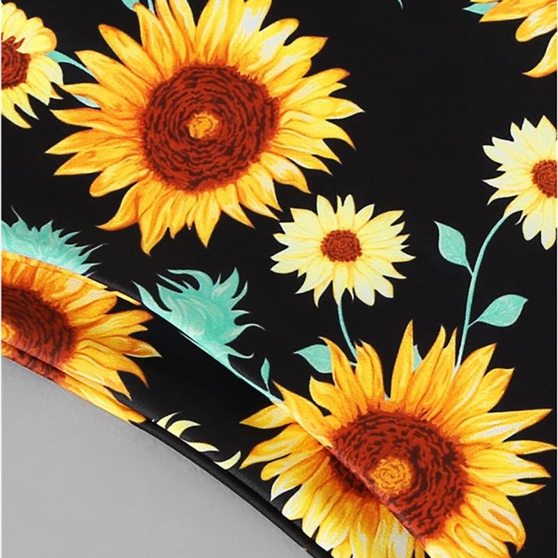 Floral Print High Cut Bikini 15