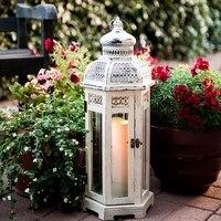 Деревянный подсвечник фонари/железная крышка ветрозащитный подсвечник стекло фонари/мягкие украшения дома стрельба реквизит