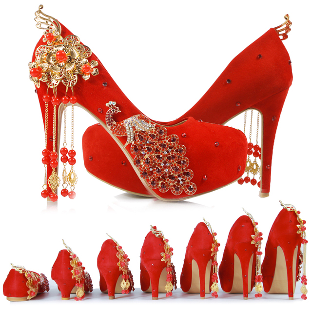 8669384d1abe New red bride shoes