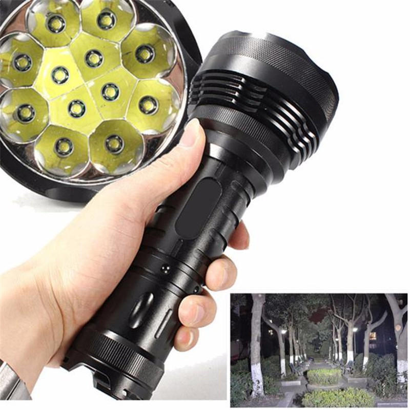 B2 30000LM 12x XM-L T6 LED Flashlight 5 Mode Torch Light Lamp Waterproof Super Light Camping & Hiking Hunting Durable alumium 30000lm 5 modes 12x xm l t6 led flashlight torch lamp lights 18650 battery charger for outdoor hiking camping hunting