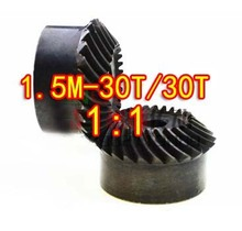 1.5M-30/30T -1:1 Precision Helical Spiral Bevel Gear-Dimaeter: 47mm-2pcs/set стоимость