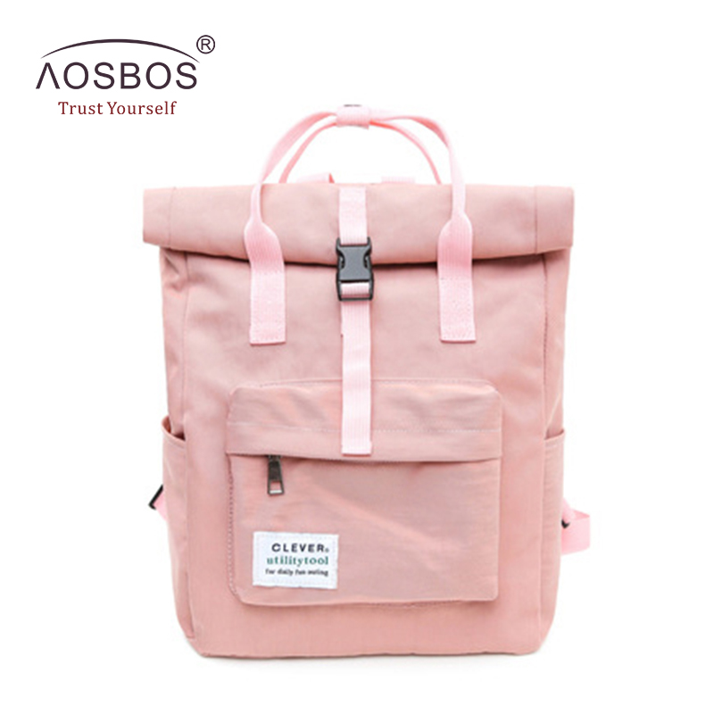 Fashion Female Candy Color Nylon Backpacks Preppy Style Zipper Book Bags for Girls Durable Rucksacks for Teenagers free shipping