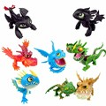 Full Set 8 Pcs Juguetes How To Train Your Dragon 2 Action Figures Night Fury Toothless figurines kids toys toothless dragon toys
