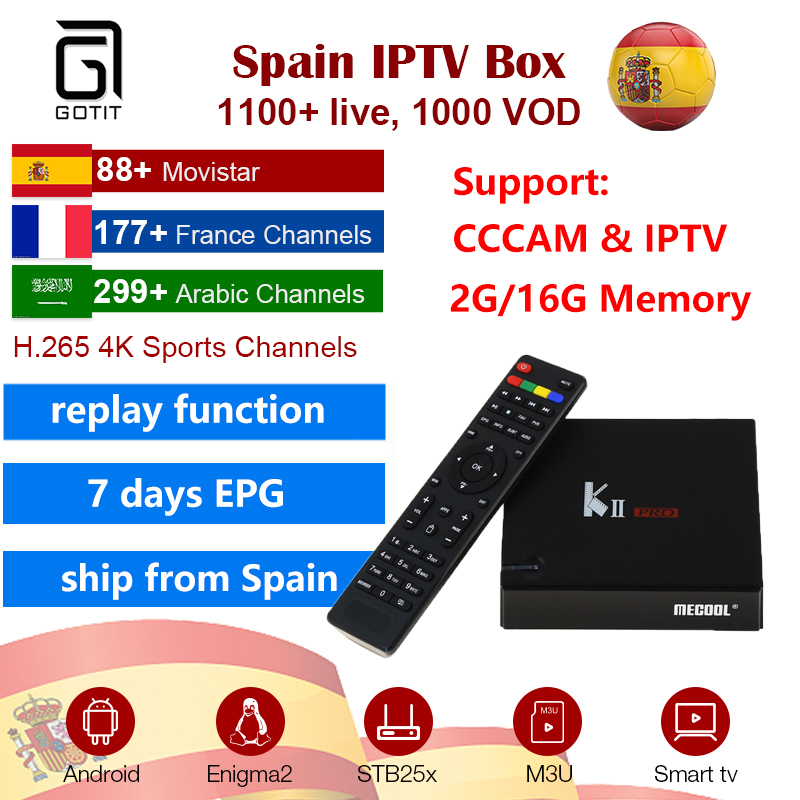 KIIPro Android TV Box Amlogic S905 BT4.0 2G+16G WIFI IPTV & Cccam DVB-S2/T2 K2PRO Set Top Box Satellite Receiver Ship From Spain kii pro android tv box amlogic s905 media player 2g 16g dual wifi iptv dvb s2 t2 k2 pro satellite receiver ship from russian