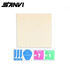 Image 5 - Sanvi 15 자동차 스티커 테슬라 model3 탐색 터치 디스플레이 화면에 대한 명확한 강화 유리 화면 보호기
