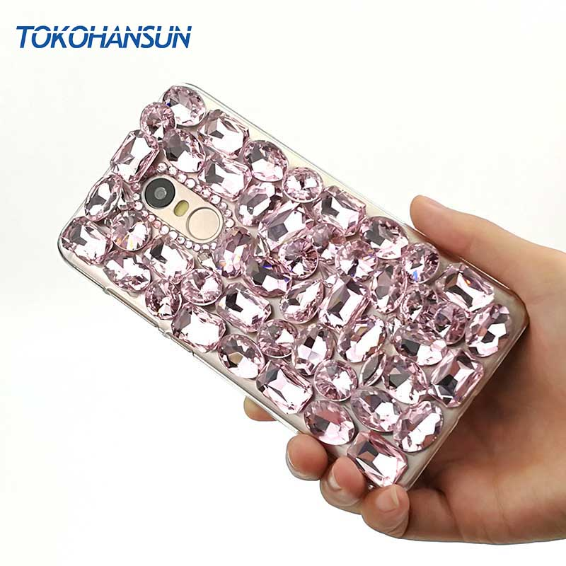 Tokohansun Silicone Bumper Cases for Xiaomi Redmi Note 4 4x 5x 5s Case Crystal Diamond Bling for Redmi 4x 4a 3s Phone Cover