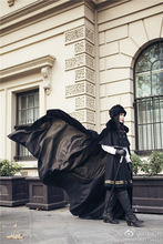 Gothic Lolita Uniform Dress Woolen Overcoat Unisex Winter Set Cape And Skirt Free Shipping NEW