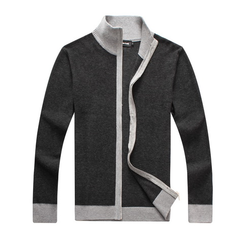 RICHARDROGER font b Men b font font b Sweater b font Casual Style Stand Collar Cotton