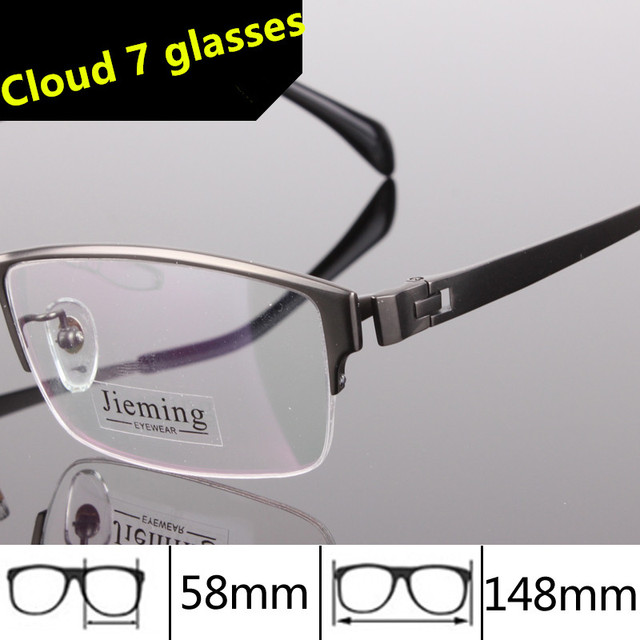 69a070004f 58-16-148 Pure Titanium Glasses High Quality Men Frame Prescription Men  Designer Glasses frame Optical glasses Big Frame 179