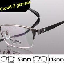 0440e230ba389 Dos homens de alta Qualidade Grandes óculos de armação de Titânio Homens  Óculos de Designer de óculos de Armação de Prescrição P..