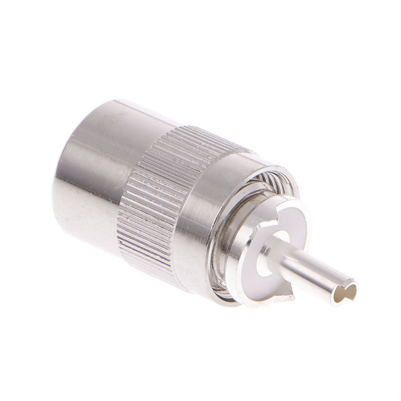 UHF Male PL259 Plug Solder RG8 RG213 LMR400 7D-FB Cable Connector Silver