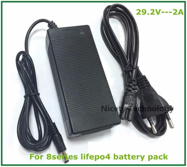 24V 29.2V 2A 29.2V LiFePO4 Pin Sạc Dành Cho 8S 24V LiFePO4 Bộ Pin miễn Phí Vận Chuyển