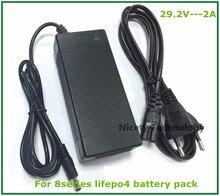 24V şarj cihazı 29.2V 2A şarj cihazı 29.2V LiFePO4 pil şarj cihazı için 8S 24V LiFePO4 pil paketi ücretsiz kargo